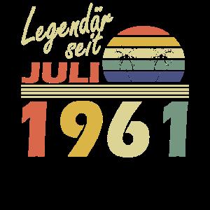 Legendär seit Juli 1961Jahr 1961 Geburtstag