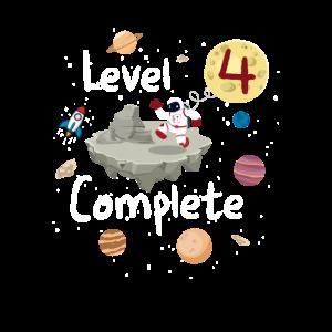 Astronaut 4. Geburtstag Level 4 Complete Weltraum