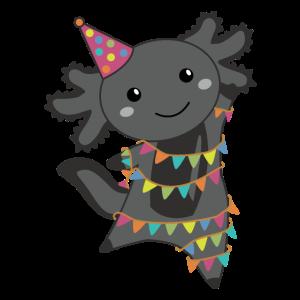 Geburtstags Axolotl Girlande