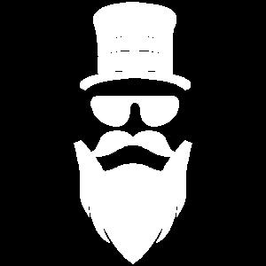 Gentleman Vollbart Sonnenbrille Motiv