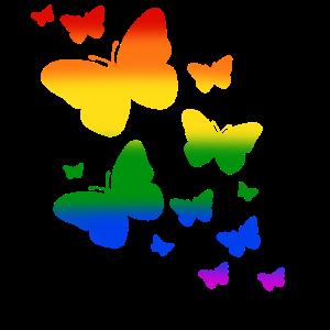 Schmetterling Schmetterlinge LGTBQ Pride