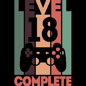 Level complete Geschenk Geburtstag Lustig