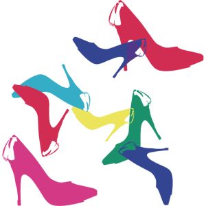 high heels,bunt,illustration,schuhe