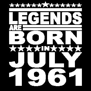 Legendär seit Juli 1961 Jahr 1961 Geburtstag July