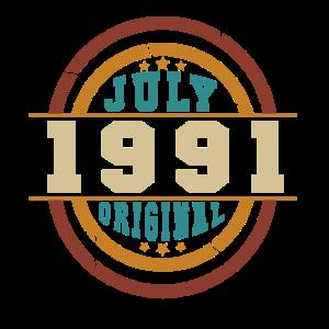 Vintage Juli 1991 Original