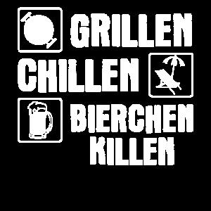 Grillen Chillen Bierchen Killen Grill