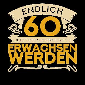 60ter Geburtstag Spruch Männer 1961 Endlich 60