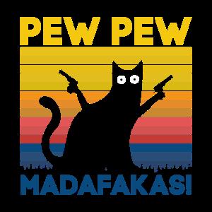 Lustige Katze, Pew Pew madafakas