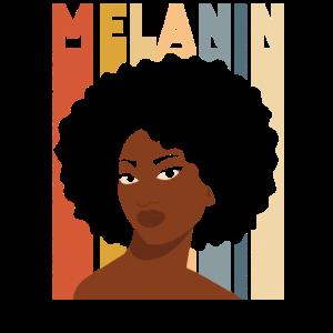Black Pride Melanin Retro Vintage
