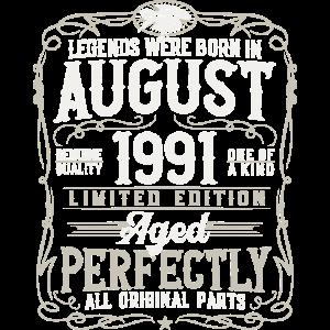 Jahrgang August 1991 geboren Legenden 30 Jahre