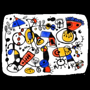 Illustration Miró-Style