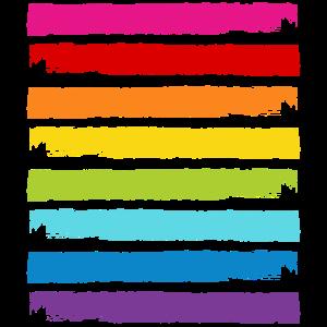 Regenbogen Farben Streifen LGBT LGBTQ Gay Pride