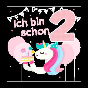 Mädchen 2. Geburtstag Regenbogen Geburtstagsparty