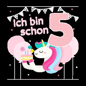 Mädchen 5. Geburtstag Regenbogen Geburtstagsparty