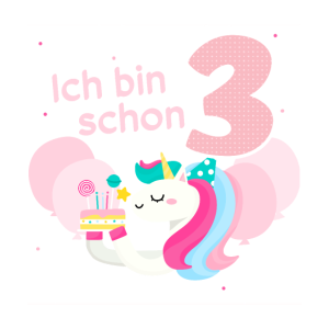Mädchen 3. Geburtstag Regenbogen Geburtstagsparty