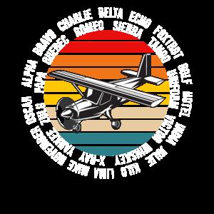 International Pilot's Alphabet Aviation Hobby Pilo