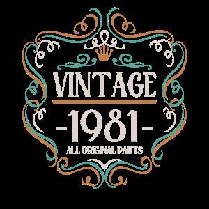 Vintage 1981 All Original Parts 40 Jahre 1981 40.