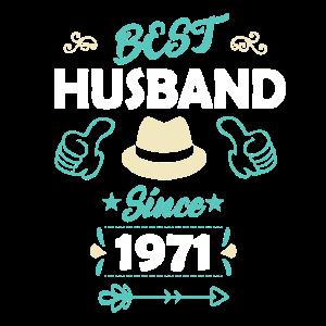 Bester Ehemann 1971 goldene 50. Hochzeitstag