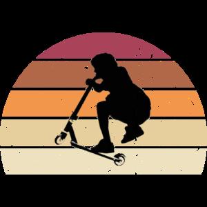Kickroller Stunt Scooter Vintage Retro Kids Design
