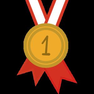 Medaille Erster Platz Sport