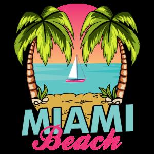 Strandshirt Sommerurlaub - retro Miami Beach