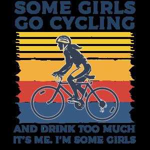 Fahrradmädchen lustiger Spruch Retro