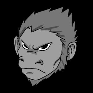 gefährliche Affe
