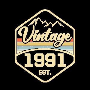 Vintage 1991 Est. 30. Geburtstag Geschenk