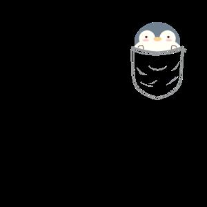 Kawaii Pinguin in Brusttasche