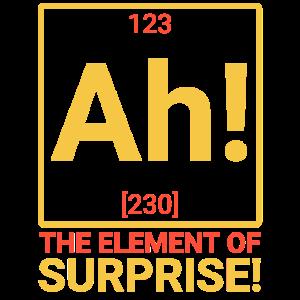 ah! Das Element der Überraschung!