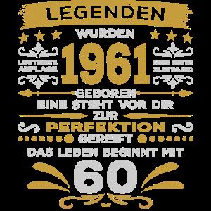 60. Geburtstag 60 Jahre 1961 Perfektion Legenden