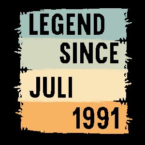 30. Geburtstag 30 Jahre Legend since Juli 1991