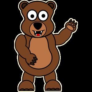 Braunbär Comicfigur