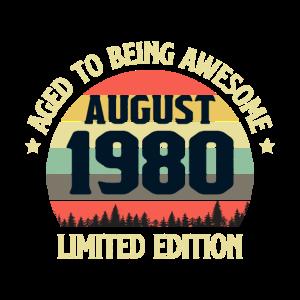 Retro Vintage Legendär Geburtstag August 1980