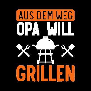 Opa grillt Grillen Grillparty Grill Geschenk