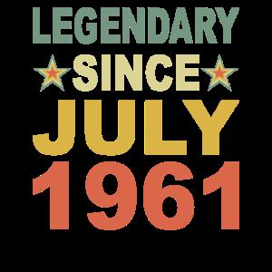 Legendär seit Juli 1961 Geburtstag Geschenk