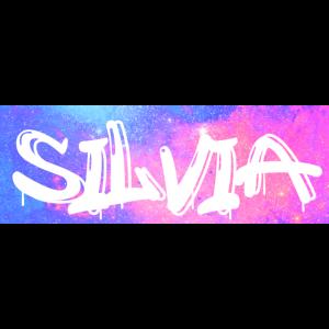 Silvia Name Geschenk Geschenkidee Galaxie