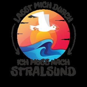 Lasst mich durch nach Stralsund Möwe Sonne Strand