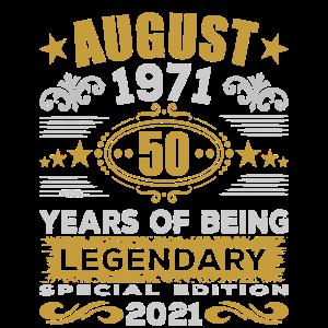 50. Geburtstag August 1971 50 Jahre Legendär