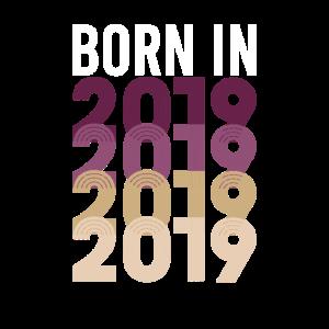 Vintage Born In 2019 Geburtstag Geburtsjahr