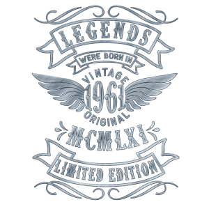 Geboren 1961 60. Geburtstag Vintage 1961