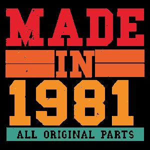 1981 Geburtstag Vintage Spruch