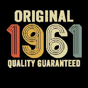 original 1961 quality guaranteed