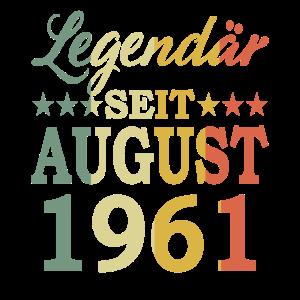 1961 Jahr Geburtstag Legendär seit August 1961
