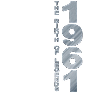 Geboren 1961 60. Geburtstag Birth of legends 1961