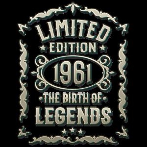 60 Geburtstag Limited Edition Jahrgang 1961