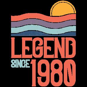 Geburtstag 1980 80 Vintage Retro Jahrgang Geschenk