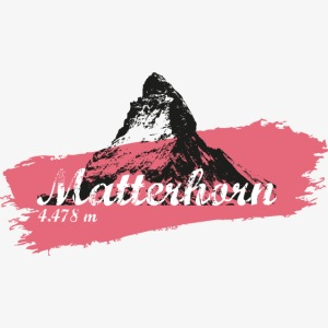 Matterhorn - Cervino - Color Coral