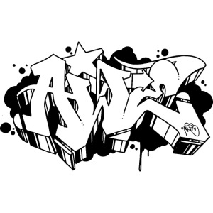 Awe Sketch Graffiti