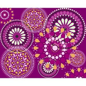 Fleur Hippie mauve